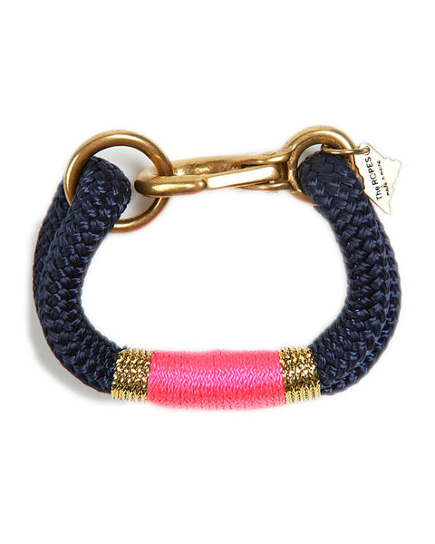 pink neon navy blue gold bracelet womens jewelry designer the ropes