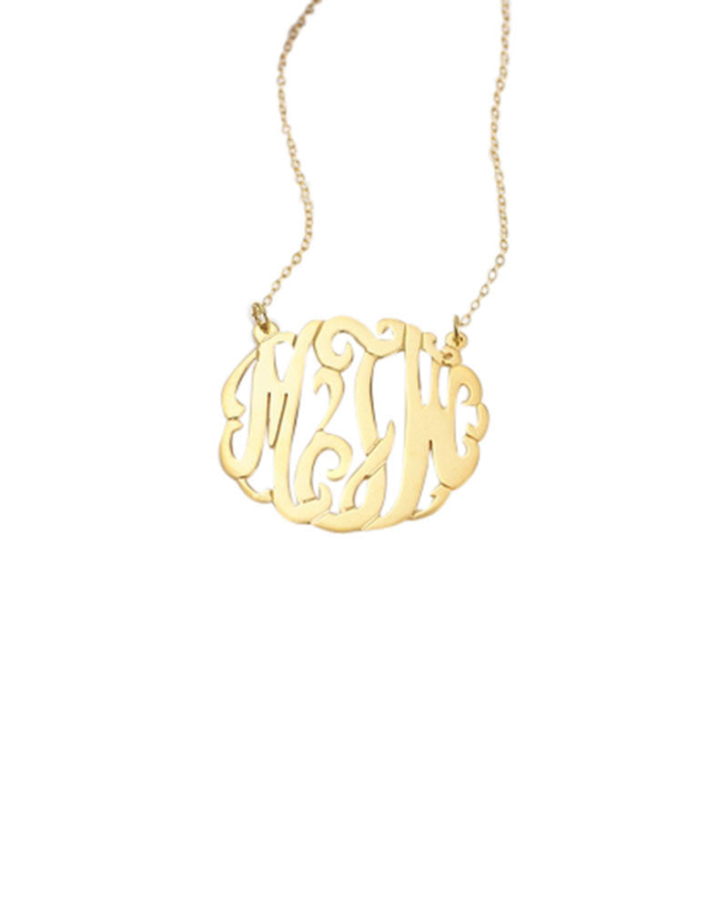 three letter initials necklace