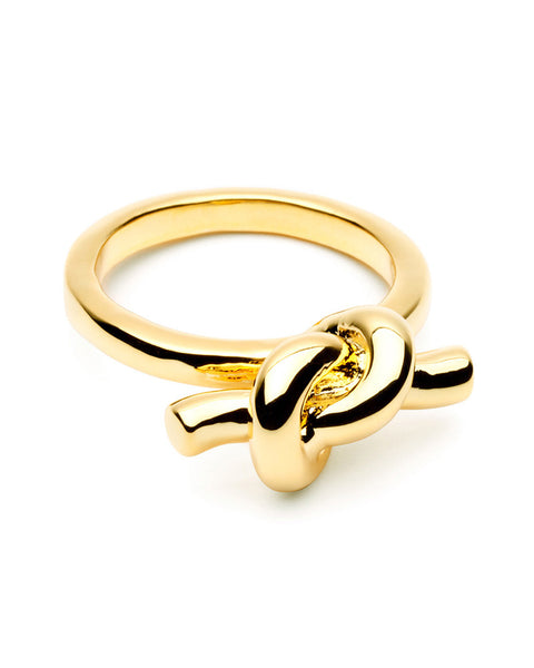 Gold tie the knot ring amber sceats