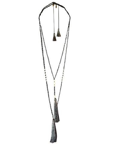 Gray Zacasha Necklace Set