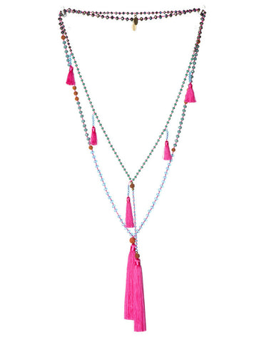 Hot Pink Zacasha Necklace Set