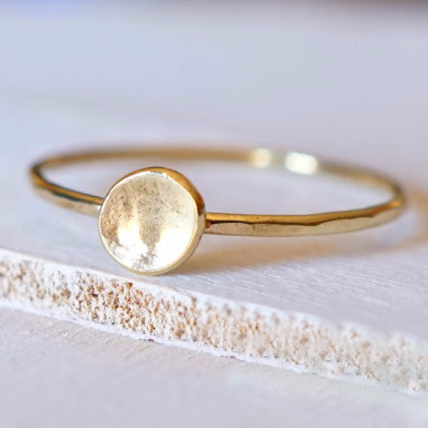 14k Gold Nugget Ring-Ring-LUXURING