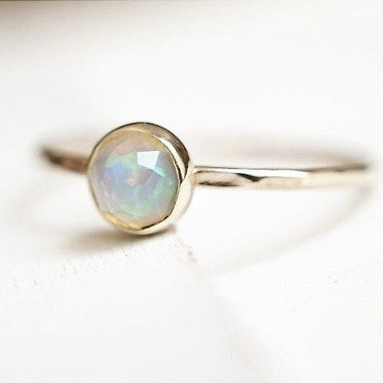 14k Rose Cut Opal Ring-Ring-LUXURING
