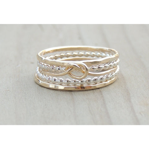 Gold and Silver Rings-LUXURING