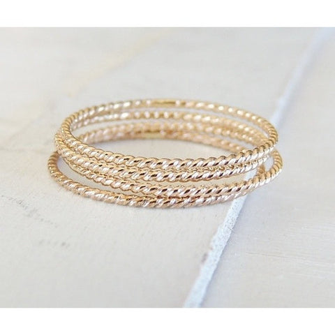 Gold Twist Ring-Ring-LUXURING