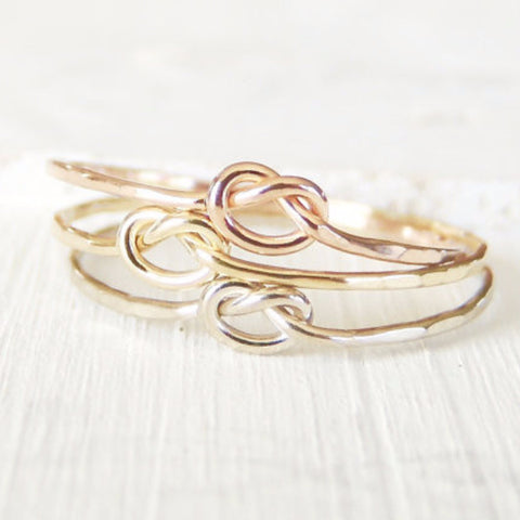 Memory Knot Ring in 14k Gold-Ring-LUXURING
