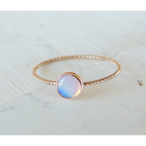 Opal Ring in 14k Gold-LUXURING