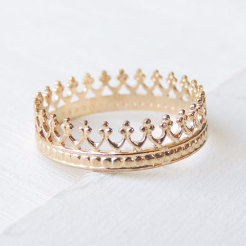 Princess Crown Ring-Ring-LUXURING