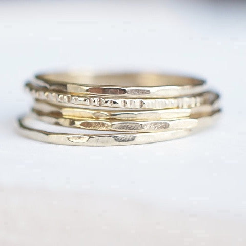 Stacking Rings in Recycled 14k Gold-LUXURING