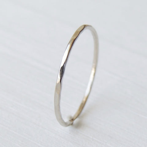 Thin 14k White Gold Ring-LUXURING