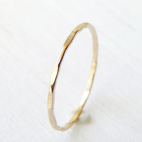 Thin 14k Yellow Gold Ring-LUXURING