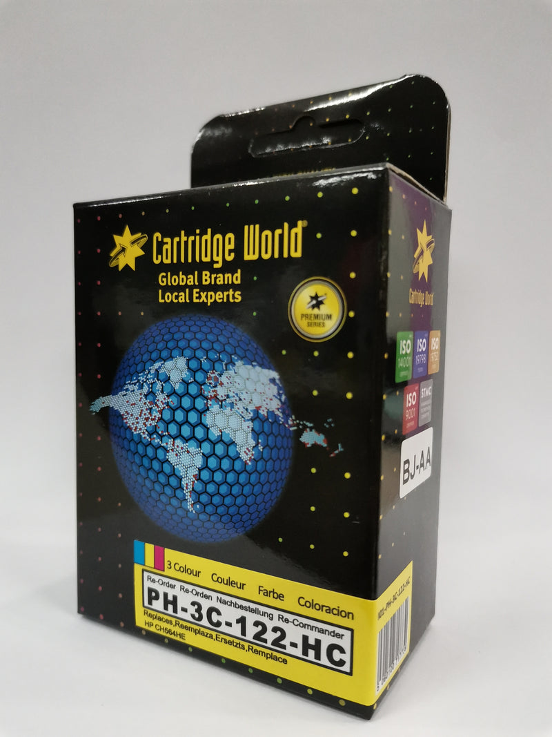 Cartridge World Ink Cartridge - Compatible with HP 122 XL 3Color