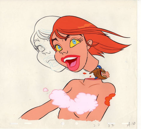 "Original Cel and Pencil Drawing from Björk's ""I Miss You"" Music Video"