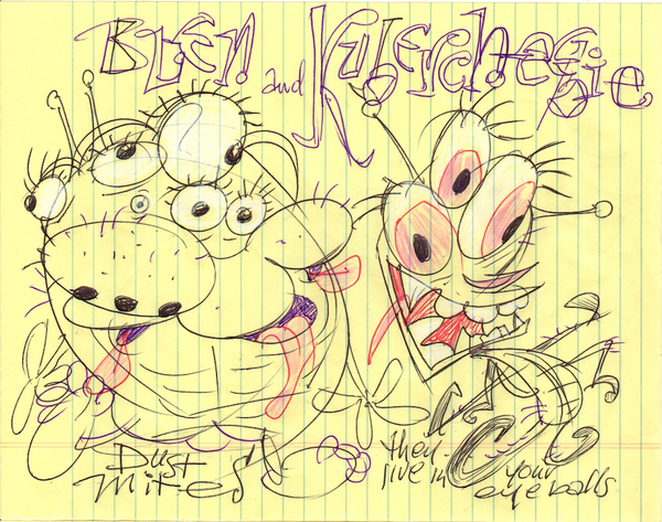 Art Original - Breakfast Doodles - Blen and Kubercheebee