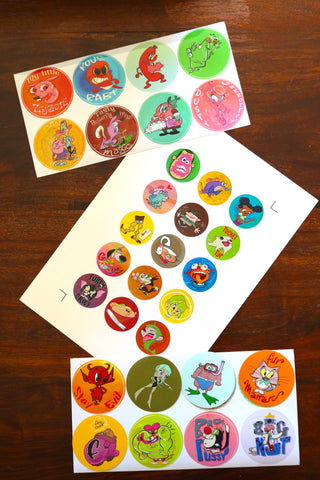 Stickers John K. Round Sticker Pack #2  (31 total!)