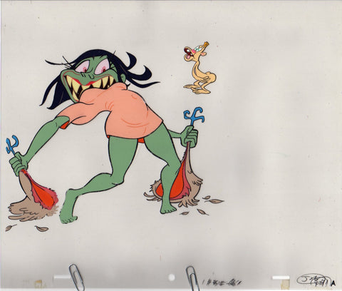 "Original Cel and Pencil Drawing from Björk's ""I Miss You"" Music Video sc61"