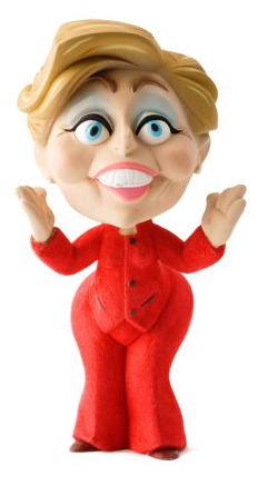 Political Toy Hillary Clinton by John K.