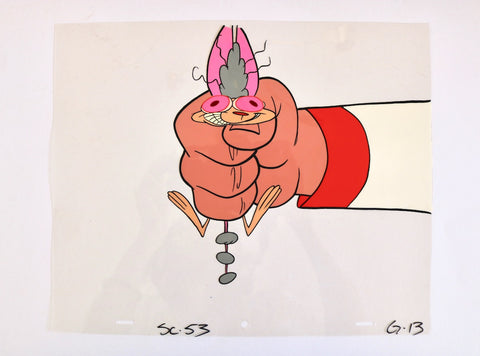 "Original Ren and Stimpy Cel from Pilot ""Big House Blues"" sc.53"