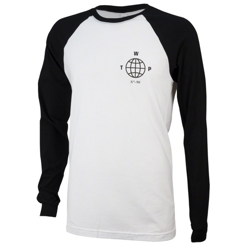 We The People Globe Long Sleeve Baseball T-Shirt