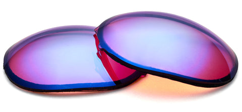 Orange contrast enhancing lenses by ZEISS with blue mirror.