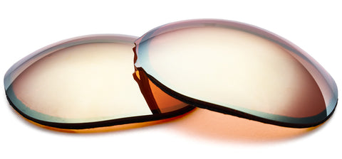 Orange contrast enhancing lenses by ZEISS with gold mirror.