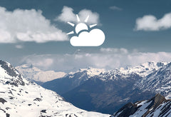 Mont Blanc mountain with clouds and snow