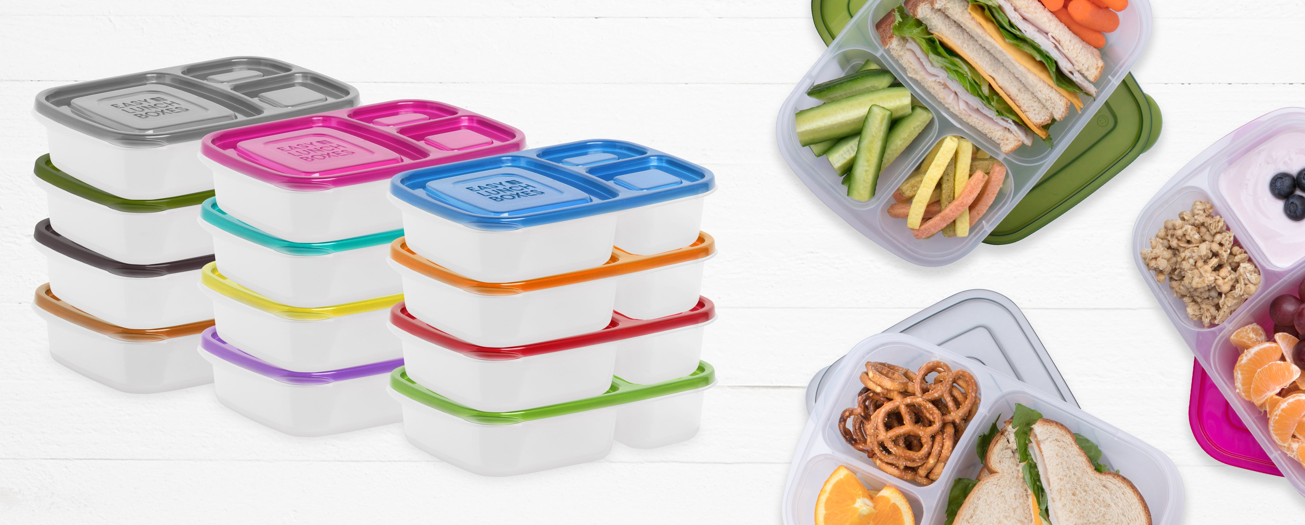 Bento Style Lunch Containers | EasyLunchboxes