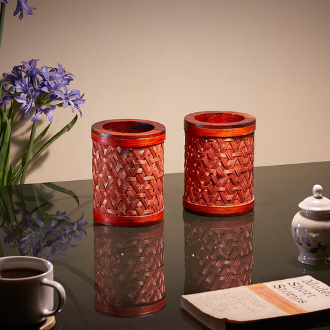 Tealight Candle Shades - Set of 2 (Scarlet Red)