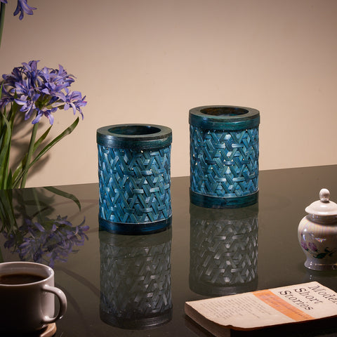 Tealight Candle Shades - Set of 2 (Peacock Blue)
