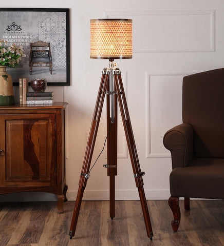 Starnet Natural Tripod Floor Lamp
