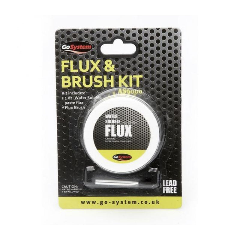 Lead Free Water Soluble Flux & Brush Set image 1