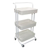 3 Tier Storage Trolley Cart Save Space Kitchen Organizer Bathroom Movable Rack Wheels Household Stand Holder Bathroom Gadgets
