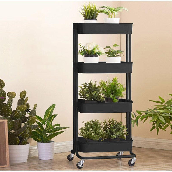 Trolley kitchen cart multi-purpose trolley trolley roll rack kitchen bathroom office with wheels 4 layers