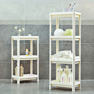 Serving Trolley Cart 4 Tier on Wheels, Storage Rolling Cart, Utility Organizer Trolley Mobile Shelving Unit with wheels, Storage Rack for Kitchen Bathroom Laundry Bedroom