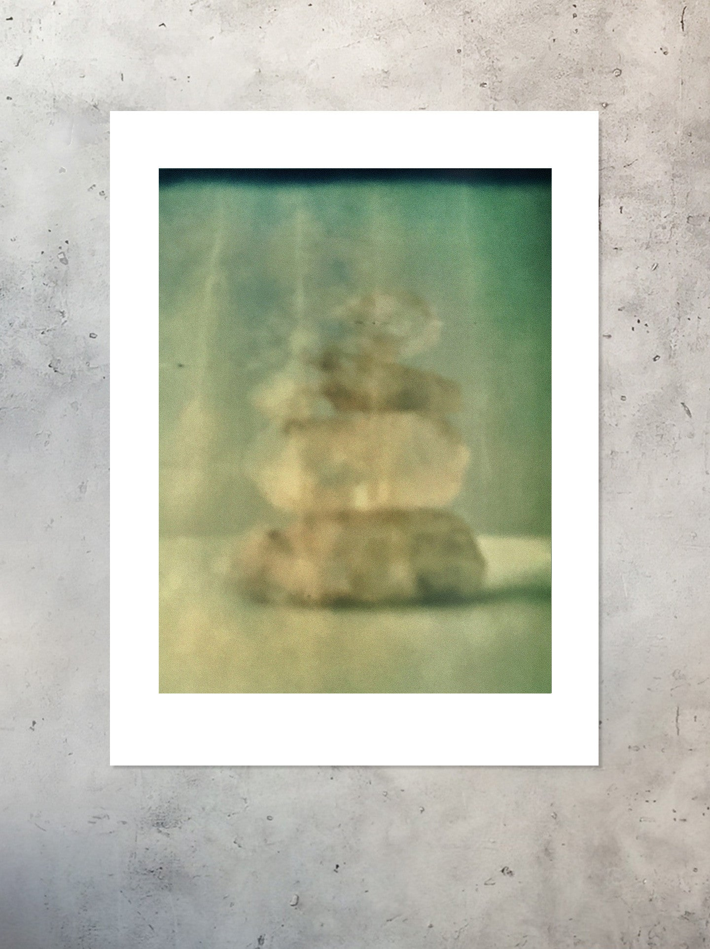 Ascension Stacked Himalayan Quartz Polaroid Photographic Print Unframed