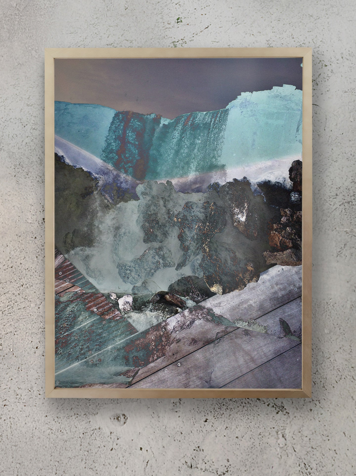Mineral Falls Stacked Collection Iceland Waterfall Photographic Print Framed
