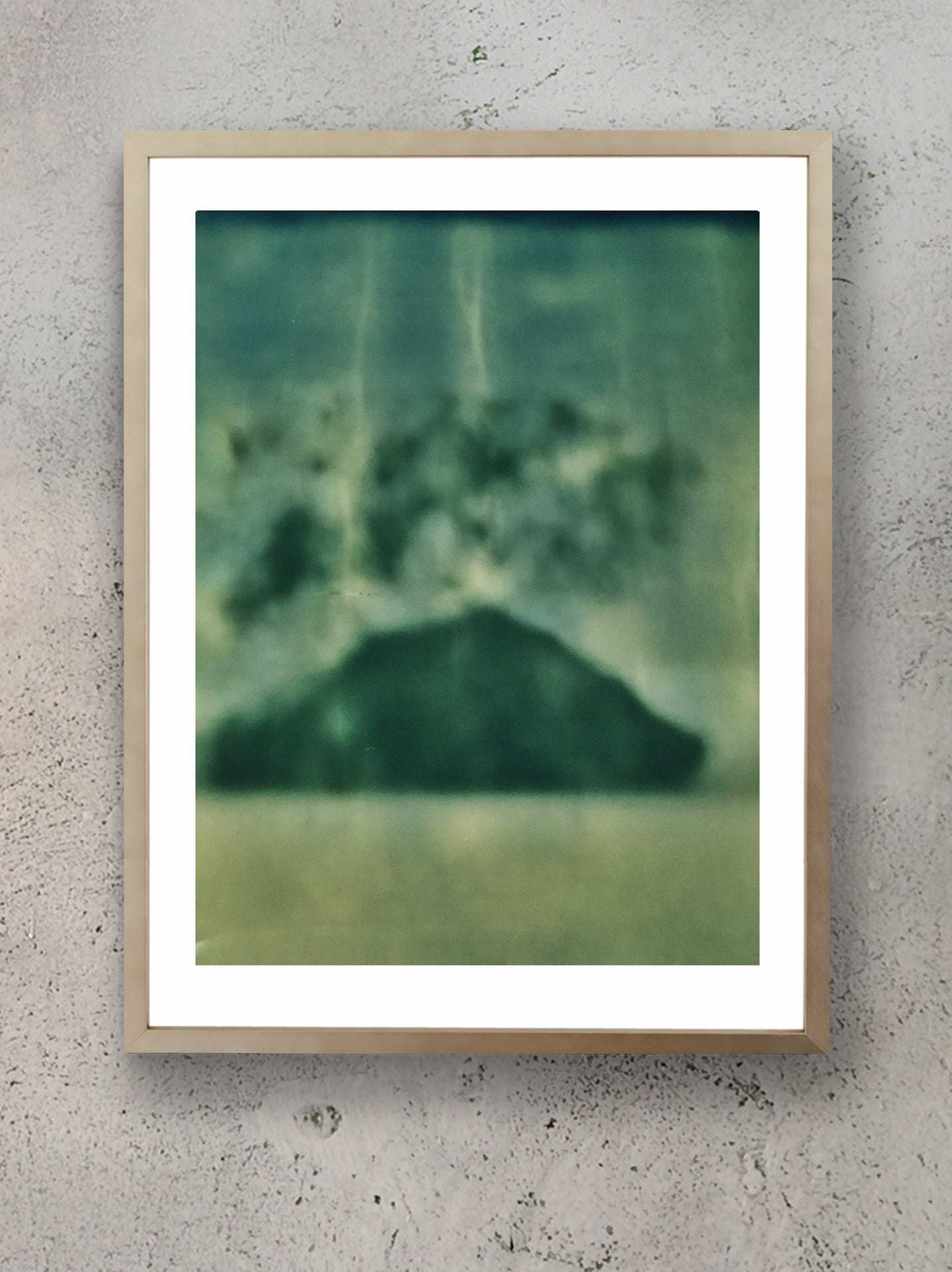 Volcanic Balance Stacked Collection Polaroid Photographic Print Framed