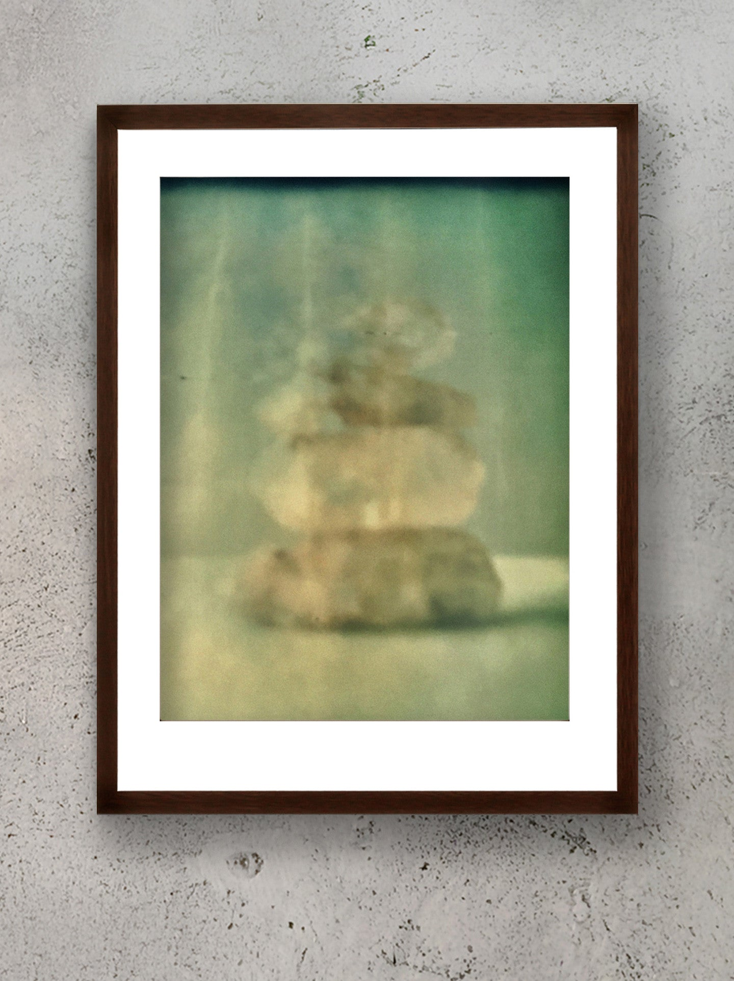 Ascension Stacked Himalayan Quartz Polaroid Photographic Print Framed