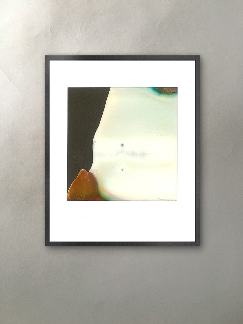 Mountain Pose III Mineralized Collection Polaroid Photographic Print Framed