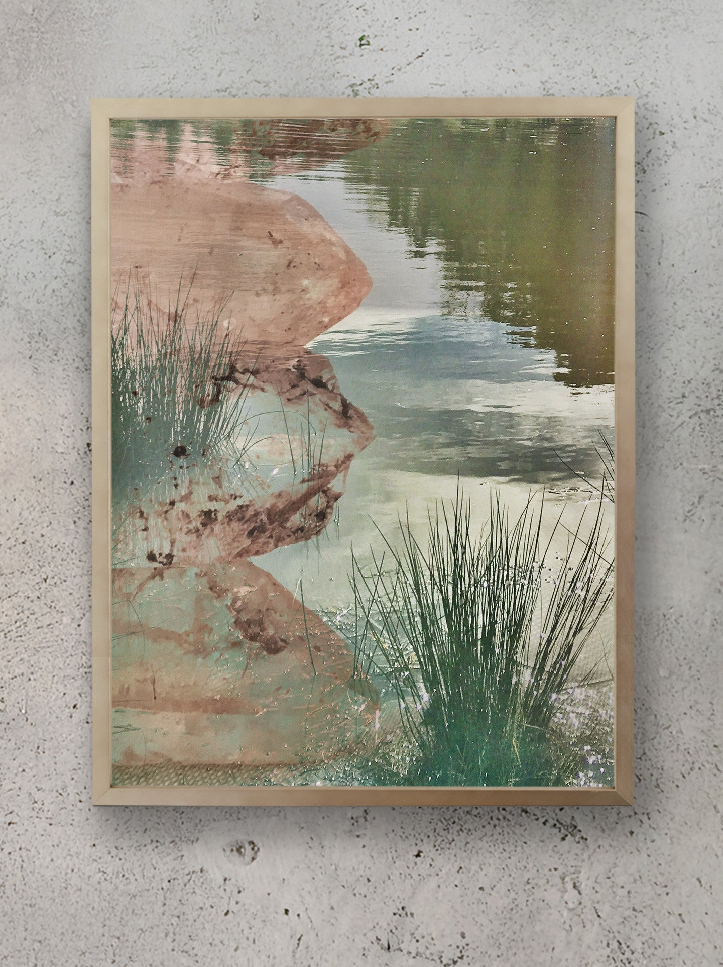 Ripple Effect Stacked Himalayan Quartz Totem Photographic Print Framed
