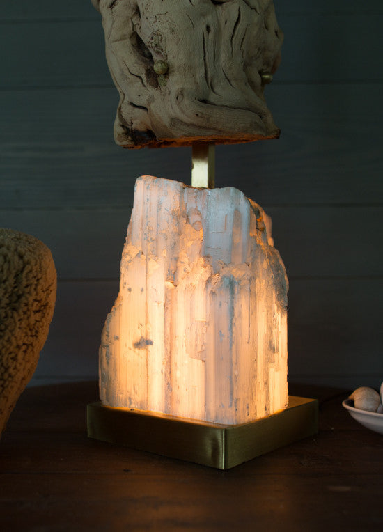 Stalagmite Large Table Floor Lamp Selenite Grapewood