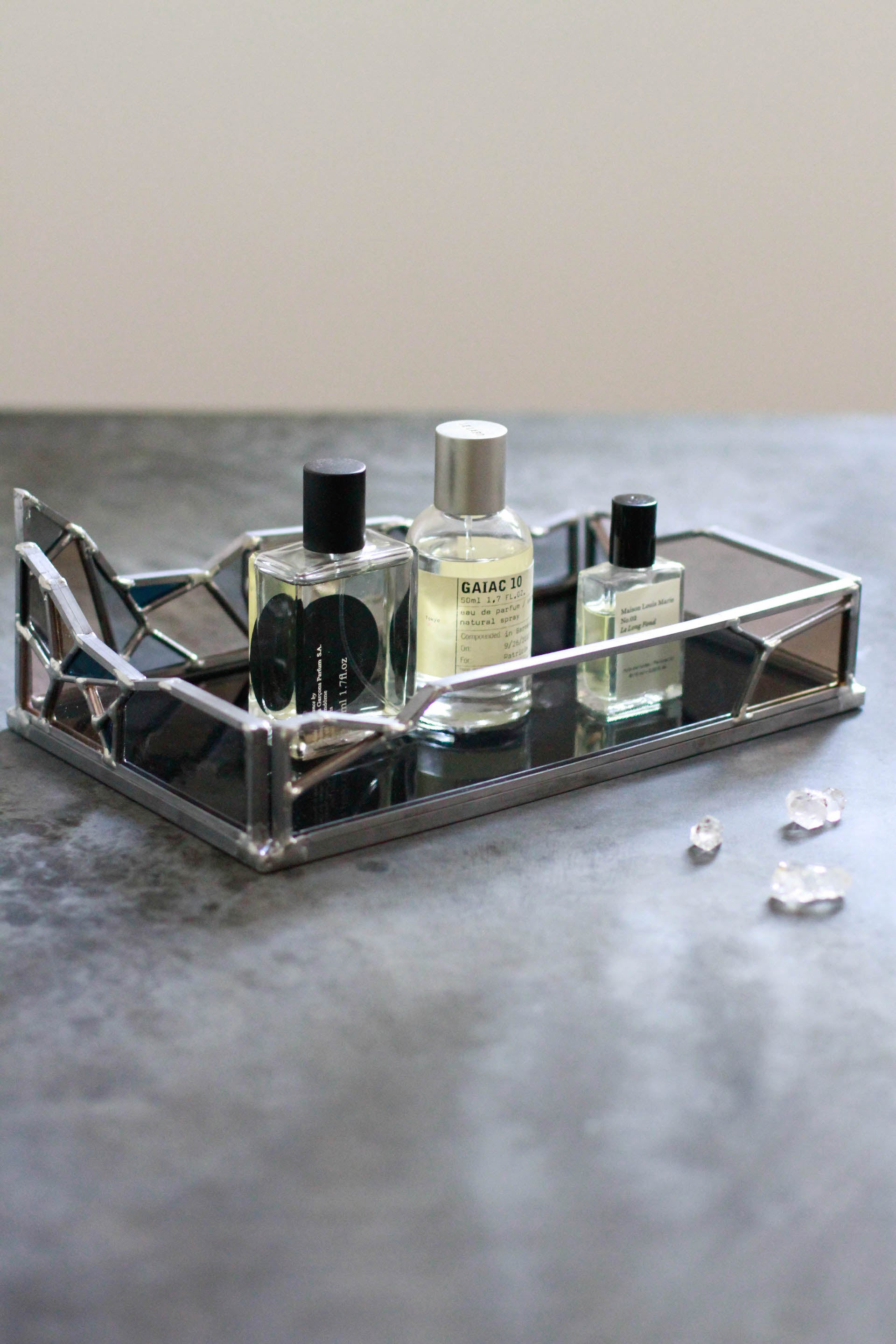 Small Glacier Tray Harpa Collection Stained Glass Jewelry Tray Vanity