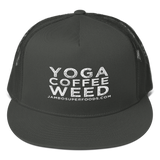 Yoga Coffee Weed - Flat Bill Cap