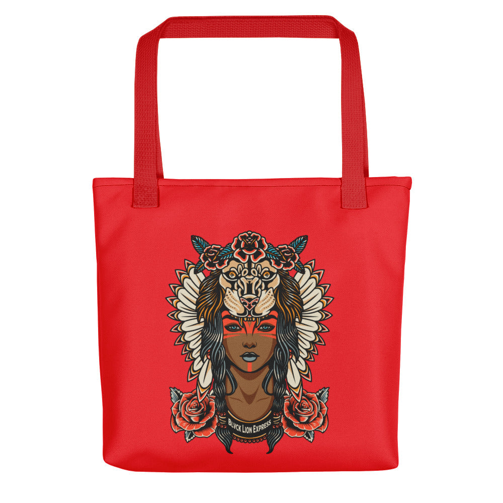 Red Queen Lion Tote bag