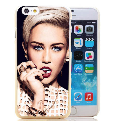 Miley Cyrus Model Sexy Transparent Hard Case Cover For iPhone - CELLRIZON