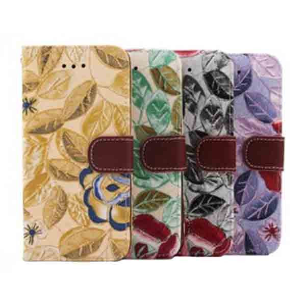 iPhone 6 Wallet Flowers Gyrosigma Case - CELLRIZON