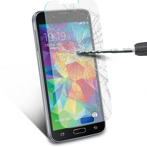 Tempered Glass Screen Cover Protector For Samsung Galaxy S5 - CELLRIZON  - 8
