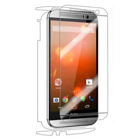 HTC One M8 Front & Back Premium HD Clear Film Screen Protector - CELLRIZON