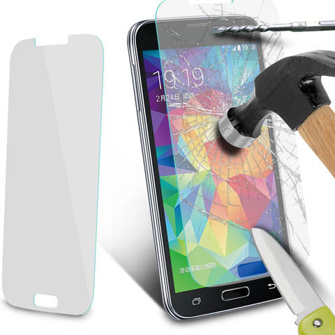 Tempered Glass Screen Cover Protector For Samsung Galaxy S5 - CELLRIZON  - 9