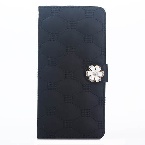Skinfeel Embroidered Flower Buckle Wallet Case for iPhone 5s - CELLRIZON